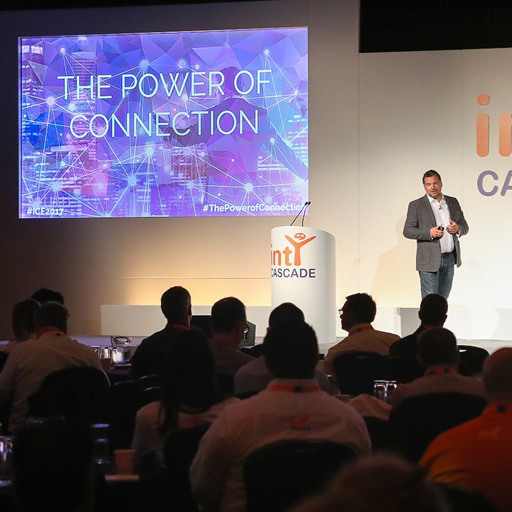 intY CEO Craig Joseph delivers opening speech on the power of connection at intY Cloud Fest